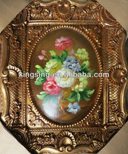 Arabic muslim home decoration painting with golden frame for wall decoration