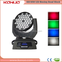 48PCS 10 Watt wash led lighting equipment moving head