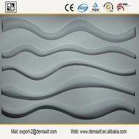 Wave Plant fiber 3D Wall Panels, GRG Wallpaper, waterproof, fireproof, Sound-Absorbing