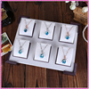White Super unique pendant jewelry tray without cover, earring jewelry tray from China
