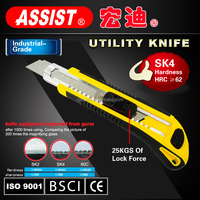 New locking press button 5 blade self loading safety pocket knife utility knife made in ningbo stainless pakistan knife