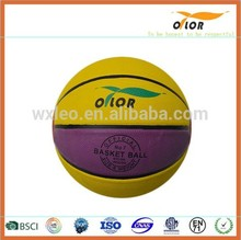 8 pannels China manufacture professional colorful basketball