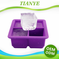FDA Free Silicone Freezer Tray And Baby Food Container Custom Silicone Ice Cube Tray