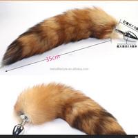 Stainless steel raccoon dog tail Anal Plug Butt Plug