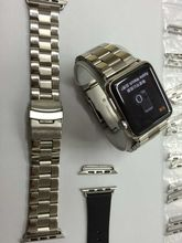 Watch stainless steel strap with adapter For Apple