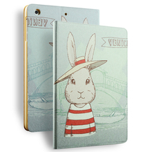 smart cover leather magnetic transformer Case stand smart cover for ipad mini 3 case