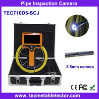 6mm Mini Camera Sewer Pipeline Survey Inspection Camera with 7inch Handheld monitor TEC710DK5-SCJ