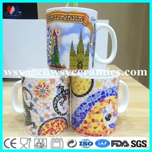 Eco big turkish ceramic porcelain coffee cups factory direct sale