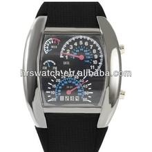 military pilot led leather wristwatch,led fashion aviator watch