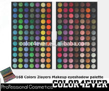 Top full color Professional 168 colors Makeup Eyeshadow Palette trading show in HK