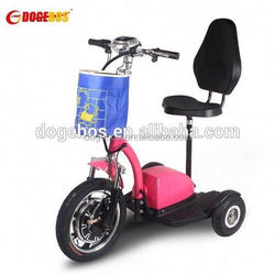 3 wheels 3 wheel electric moped scooter with front suspension