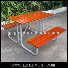 1.2M long imported camphor solid wood picnic table and bench,picnic table with bench