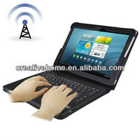 Leather Case for Samsung Galaxy Tab 10.1 / P7500 , Galaxy Tab 2 / P5100 with Bluetooth Keyboard
