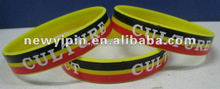 2015 colorful silk screen printed silicone bracelets/silicone bands,perfect choice to match your sport suits