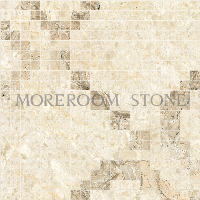MPH01MG33 Moreroom Stone Berman Beige Marble Oman Rose Tiles Price Wall Mosaic Polished Marble Mosaic Tiles Home Marble Flooring Mosaic Bathroom Design Mosaic Medallion Inlay Marble Tiles.jpg