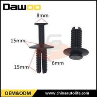 cheap black car plastic clips for bumper retaining