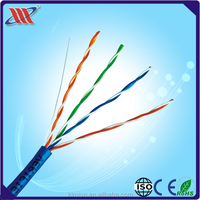 UTP CAT 5E SOLID LAN CABLE 24AWG 4Pairs outdoor double jacket cable