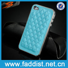Rhombus Chrome Back Cover for Iphone 4 2013 New Products