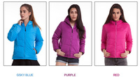 Lady fake down jacket women padding jacket