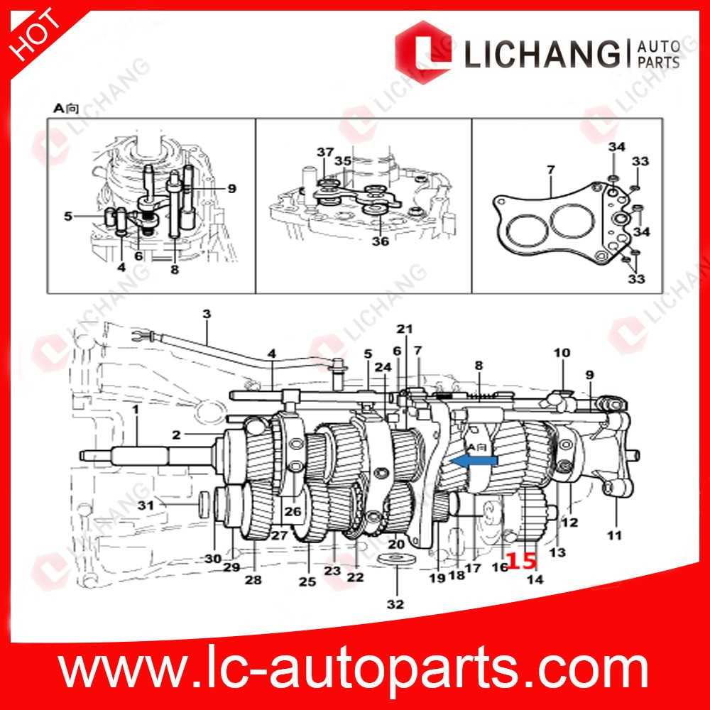 Genuine Auto Parts Ab3r 7m006 Aa For Ford Transit V347 V348 Output Diagrams Mt82 Transmission 15