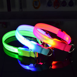 Ultra Bright Colorful Pet Puppy Glowing in Dark Pinch Collar