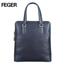 FEGER vertical trend cow leather small handbag crossbody handy shoulder bag wholesale for business man