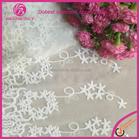 Fashion Pretty European Lady Garment Chantilly Lace Fabric