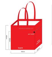 40cm x 40cm x 20cm silk printing trade show bag