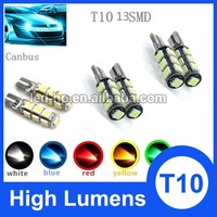 13smd 5050 red blue green yellow white canbus DC 12V car led light auto accessories