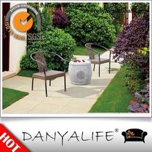 DYDS-EV1323 Danyalife All Weather Furniture Plastic Wicker Garden Side Chairs