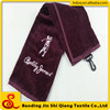 High quality 100% cotton embroidery design Golf Towel with hook sweat workout towel