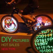 128 LED wireless custom message bike wheel lights