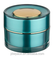 plastic acrylic rond cream jar with flap jar