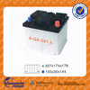Top quality lead acid dry charged starting car battery factory N40