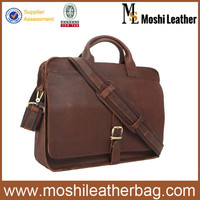 Multifunctional Fashion Vintage Genuine Leather Patent Leather Laptop Bag Fit For 15'' Laptop