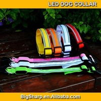 Dog Cat LED Pet Double Reflective Stripes Collar Provice Safety Bright Light in Dark Outdoor Collar DC2517