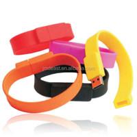 FASHION silicon bracelet usb flash drives, 1G 2G 4G 8G 16G usb memory stick, originality usb stick