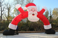 32ft Christmas outdoor inflatabel santa arch/outdoor santa arch inflatable/christmas outdoor santa arch W185