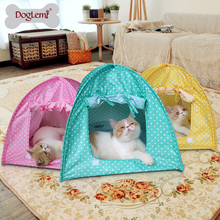 Cute Polka dots Foldable Pet Cat Kitty Tent House Camp Water Resistant 3 colors