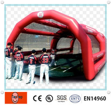 Ourdoor red inflatable batting cage price for baseball games