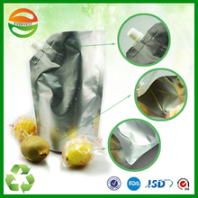 Fruit Juice Plastic Stand Up Packaging Pouch Bag