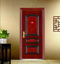 factory best quality low price steel safety door design with grill