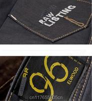 Мода мужская Джинсовая джинсы вышивка 96 новый стиль человека прямые брюки дизайнер Брюки 28-38