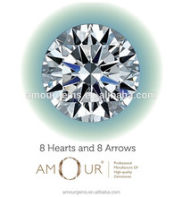 Perfectly cut Excellent Eight Hearts & Eight Arrows Star Cut loose Gemstone Cubic Zirconia CZ
