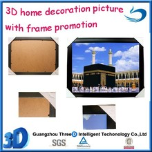 artwork Lenticular 3D picture of beautiful scenery with frame