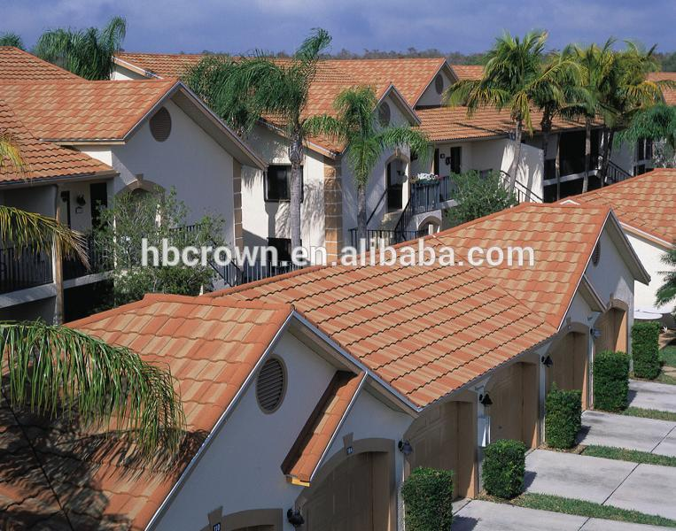 Mat riaux de construction en pierre tuiles de toiture en m tal color t le de toiture tuiles for Prix palette tuile