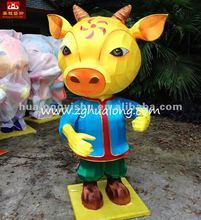 traditional exhibit of lanterns character Cartoon bull