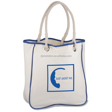 Natural Beige Color Canvas Shopping Tote with A Vinyl Inside Pouch