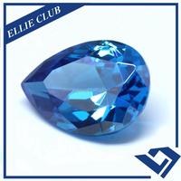 Pear Shape Dark Aquamarine Color Synthetic Cubic Zirconia CZ Gem Stone