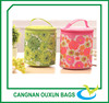 Promotional colorful round insulated thermal picnic bag for girls